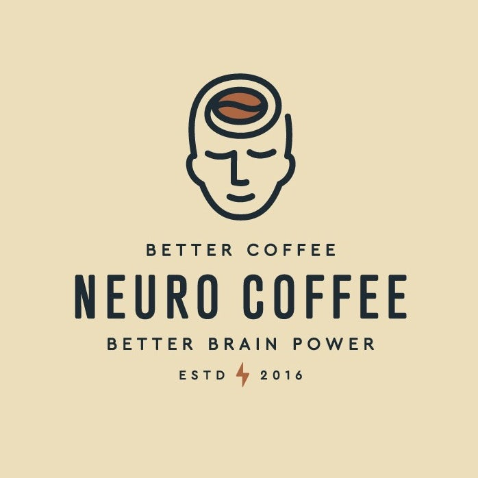 best logos example: logo of head with coffee bean for brain