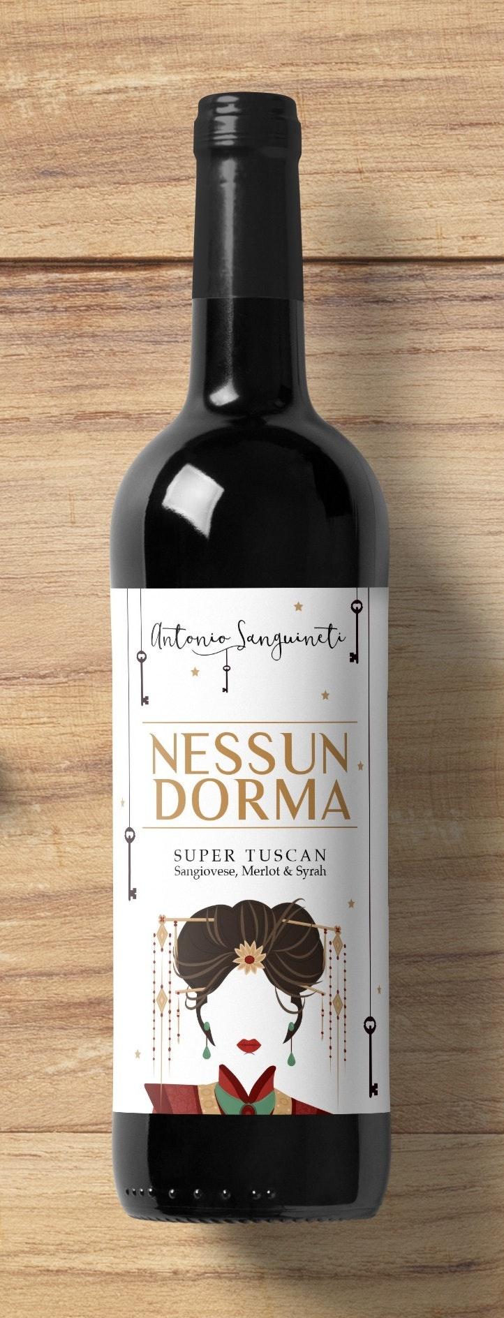 Nessun Dorma Wine Label