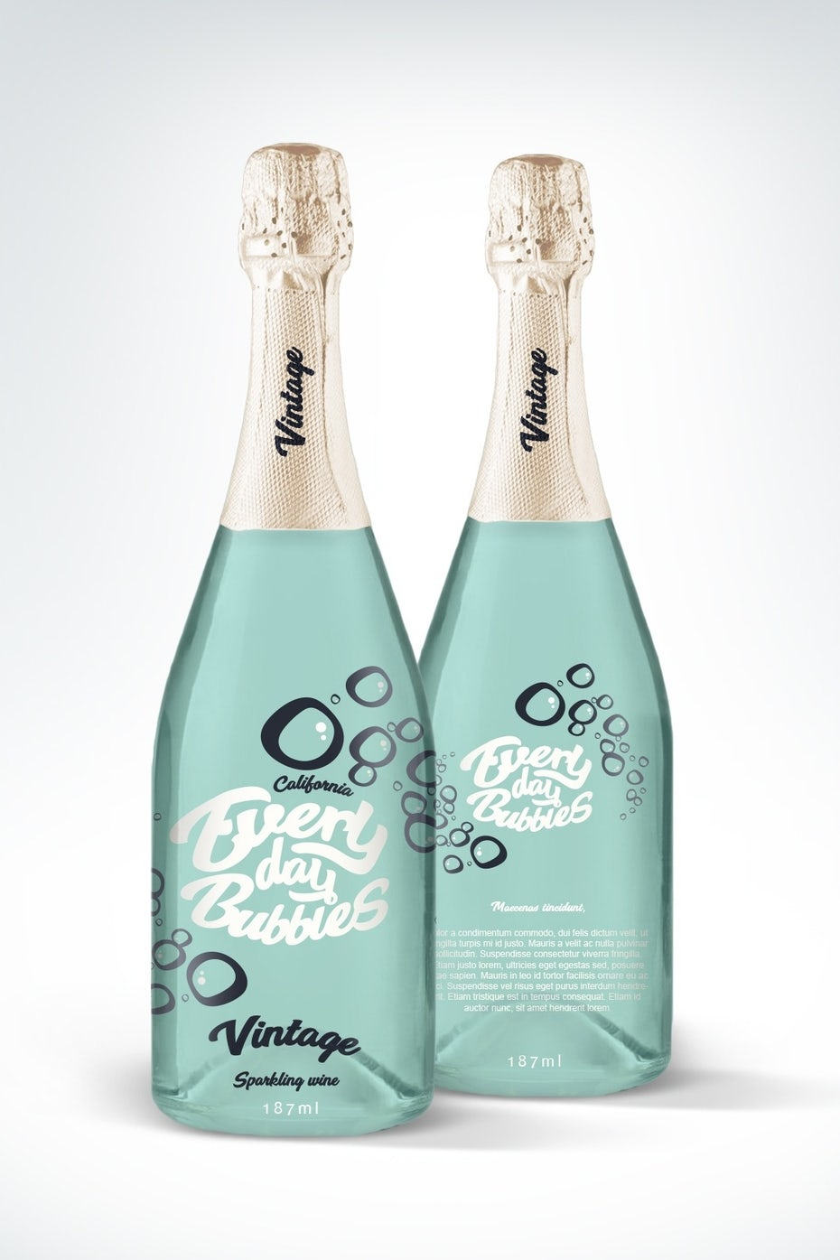Everyday Bubbles Champagne Label