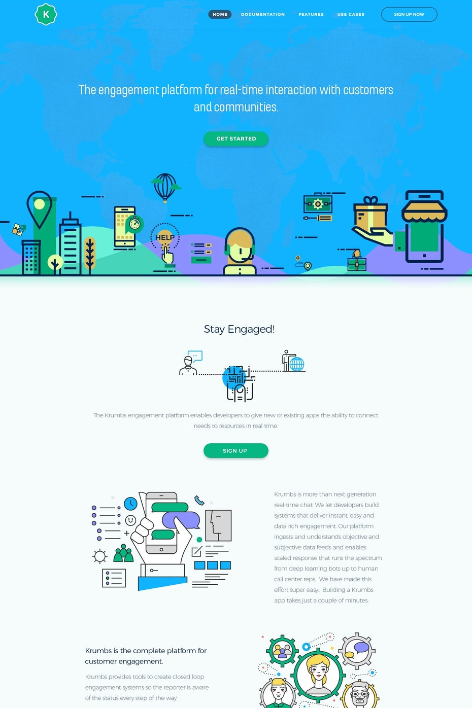 Communication landing page