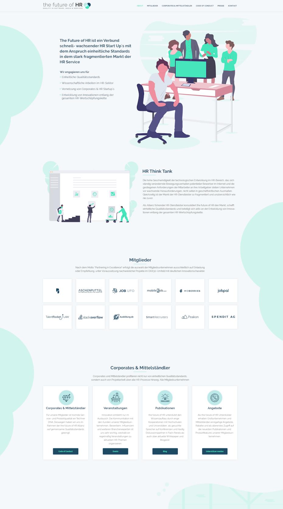 flat illustration landing page design