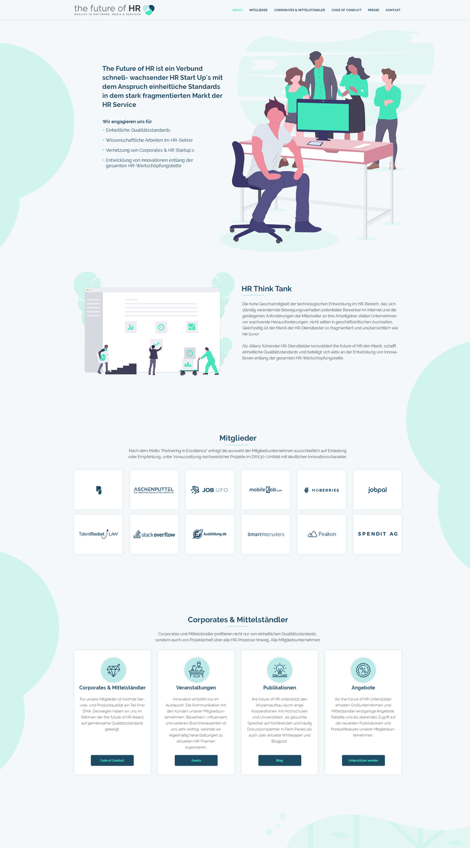 flat illustration landing page design