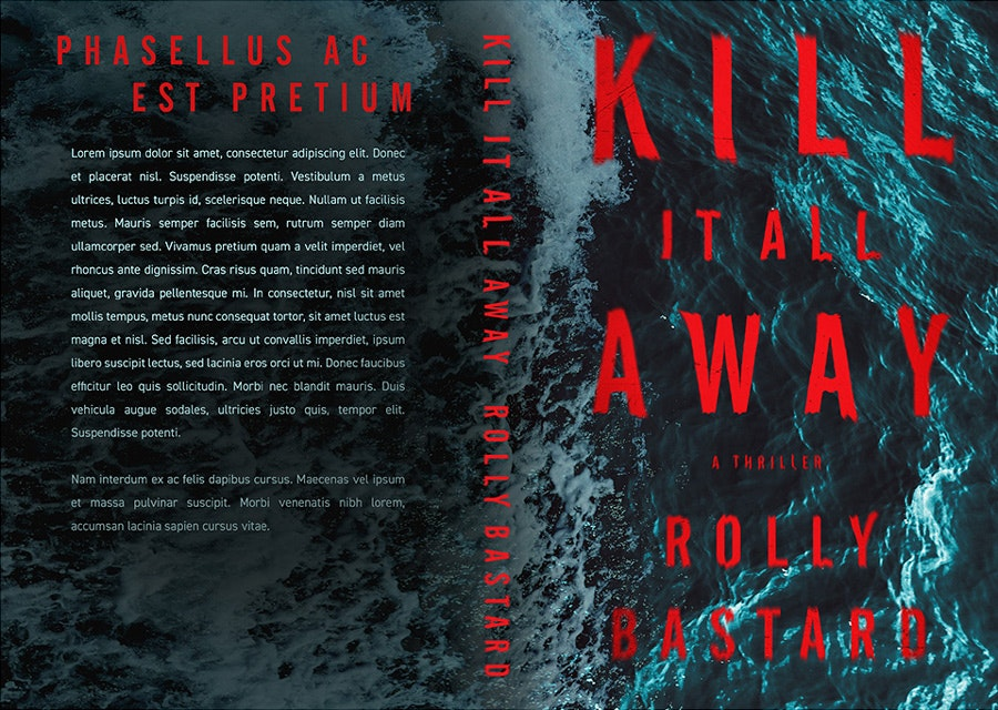 thriller book cover design