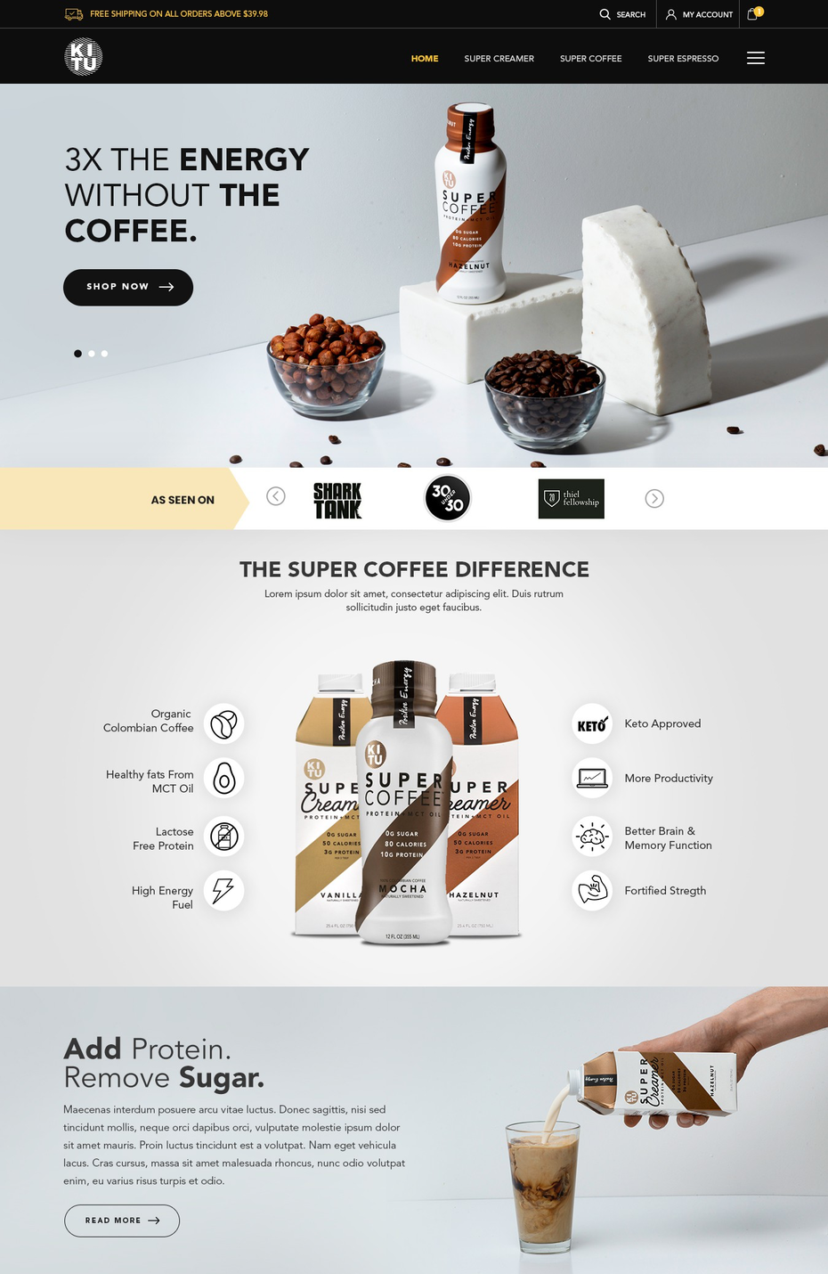 photographic landing page design