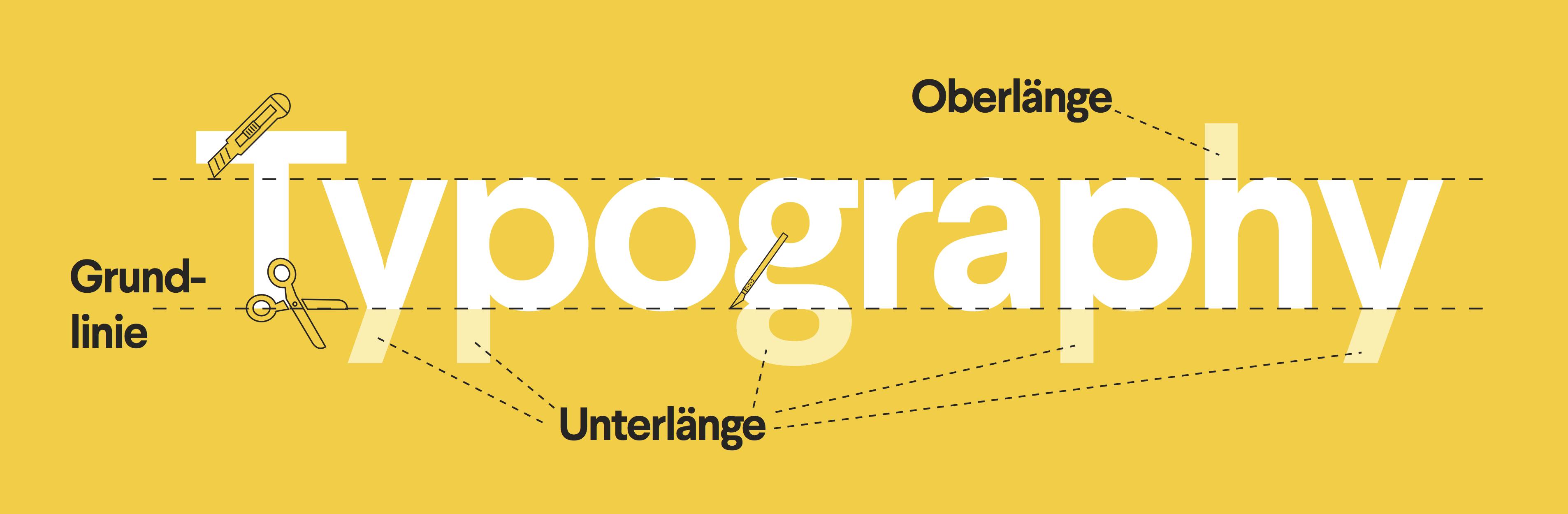 Typographie Design Begriffe