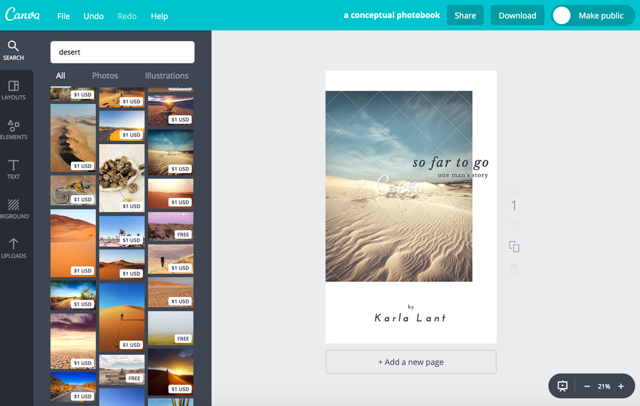 My Book Cover Maker Results Canva