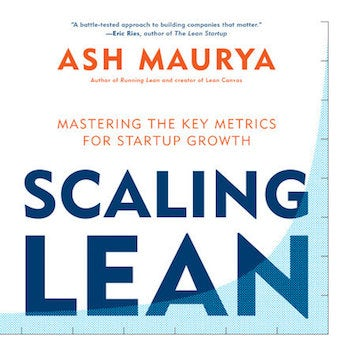 One of our recommended books for entrepreneurs: Scaling lean