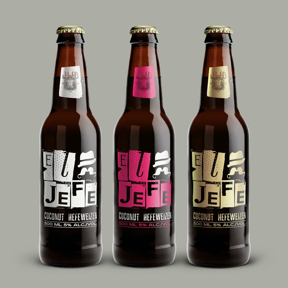 Graphic beer label design