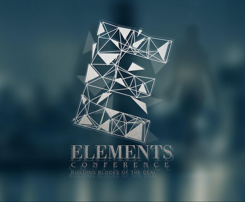 transparent layered geometric logo design