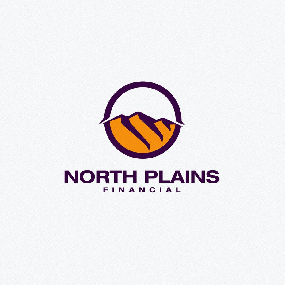 badlands landscape logo design