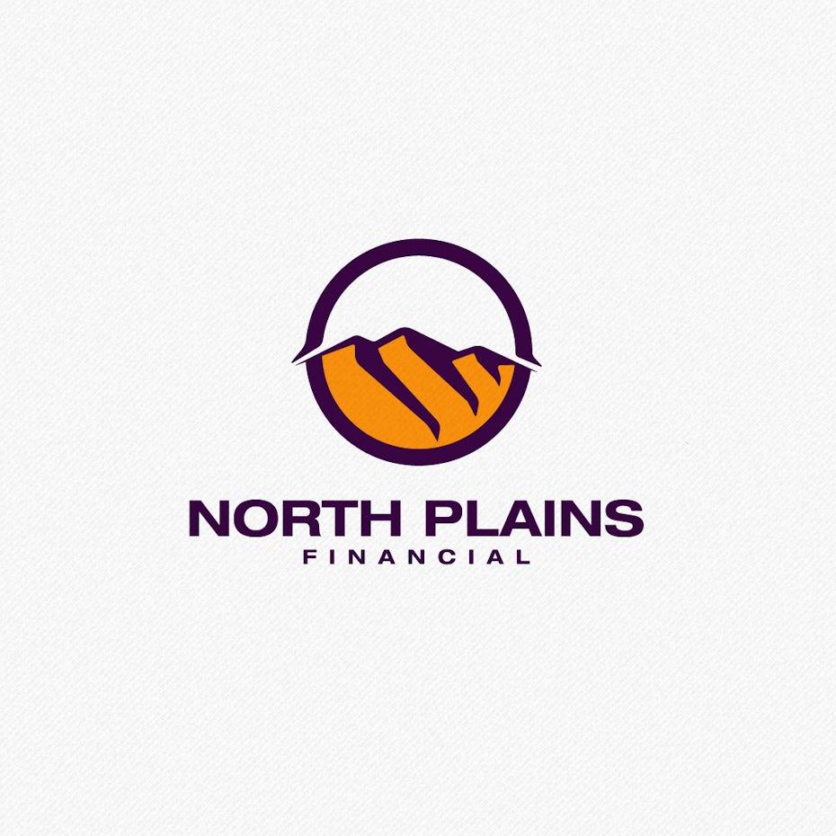 badlands landscape logo design