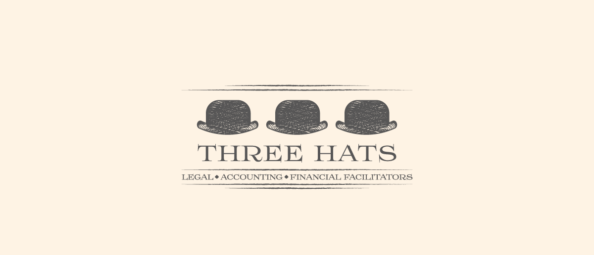 three hat vintage logo design
