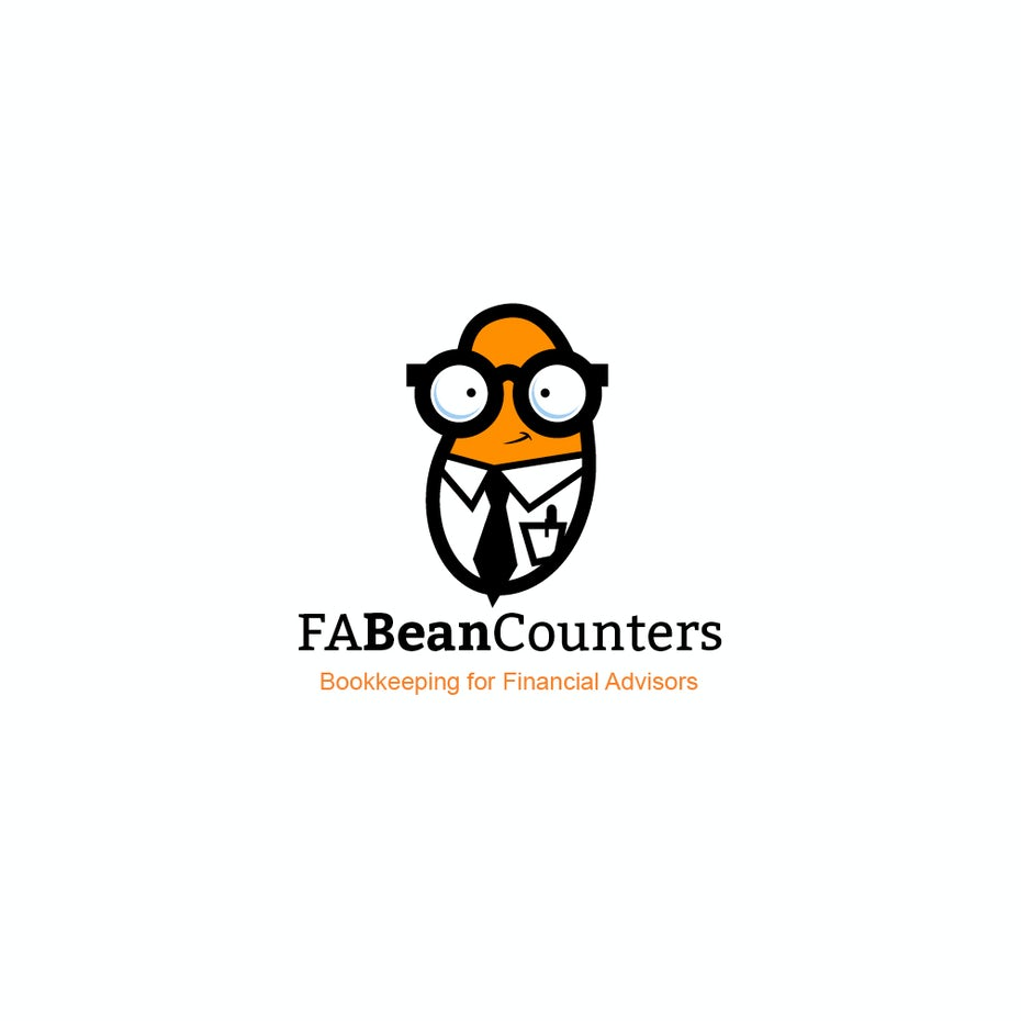 Bean bookkeeping logo design