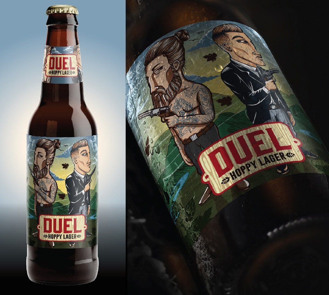 Dual Hoppy Lager beer label