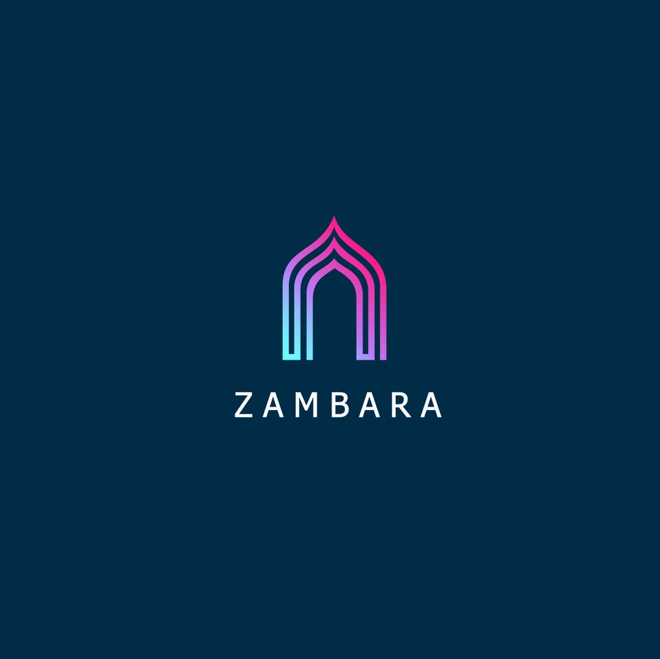 colorful gateway logo design