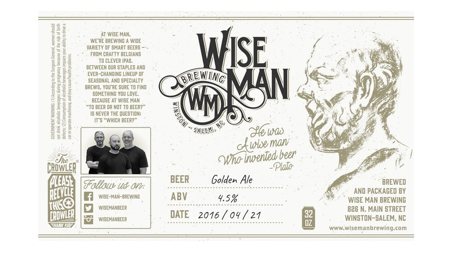 Wise Man beer label