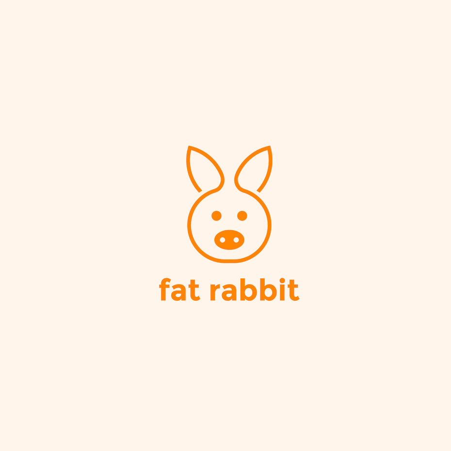 Logo with rabbit