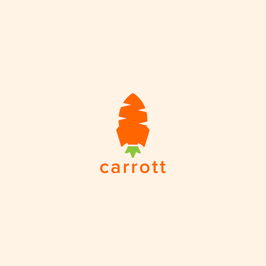 Logo with rocket carrot