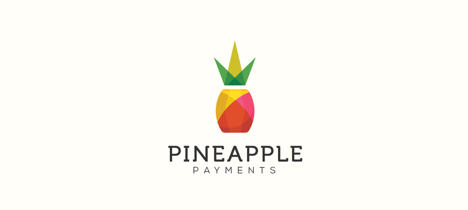 geometric pineapple logo design
