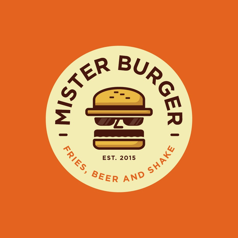Logo with burger
