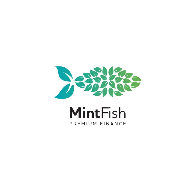 creative fish leaf logo