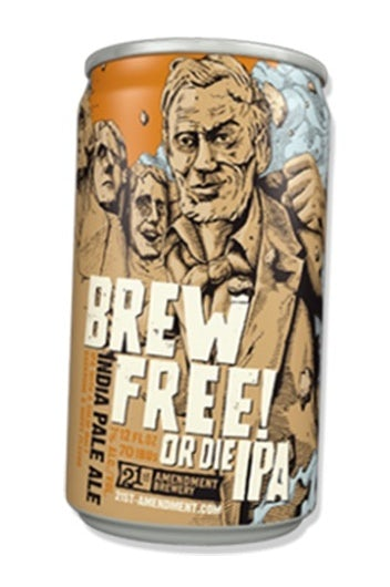 Brew Free or Die label