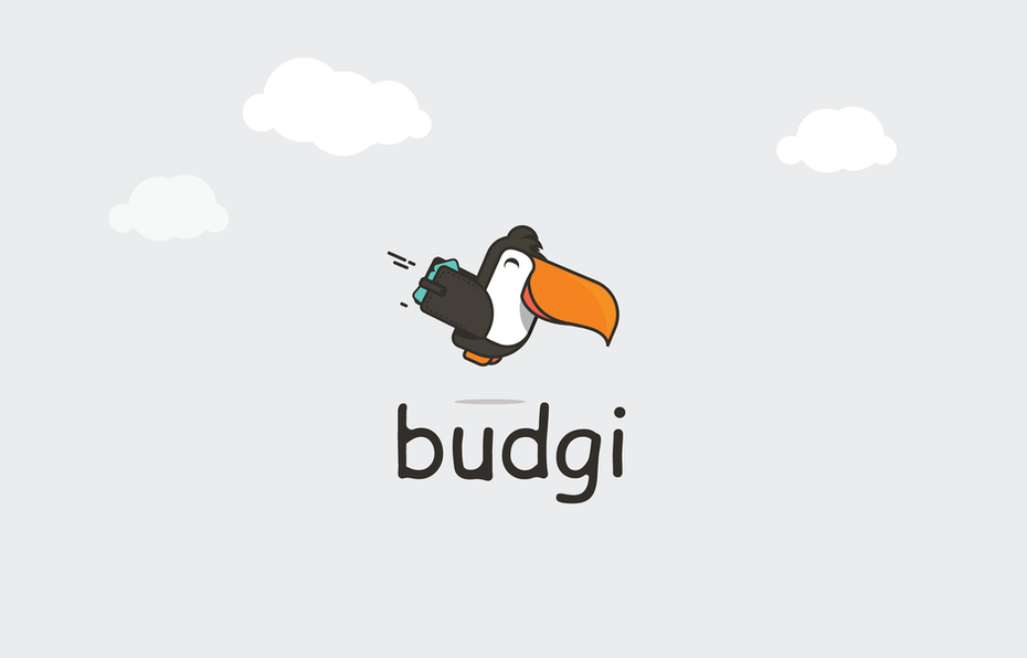 Logo for a budgeting app featuring a friendly tucan