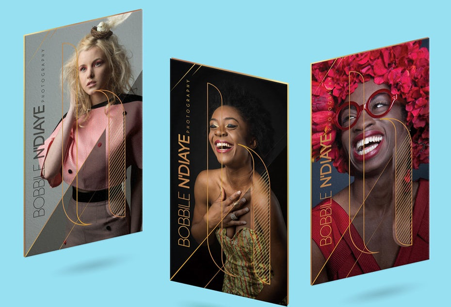 Fashion photography business card examples