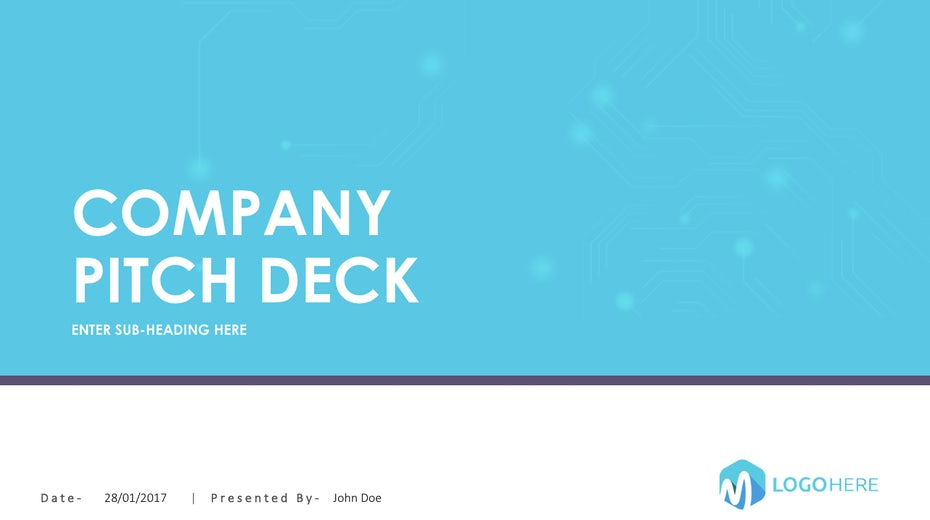 Blue pitch deck