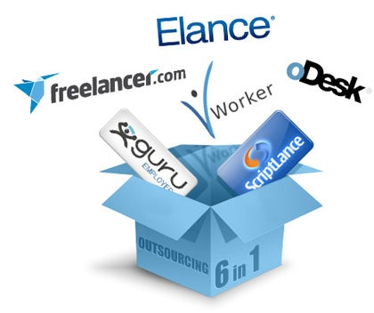 Freelance website logos