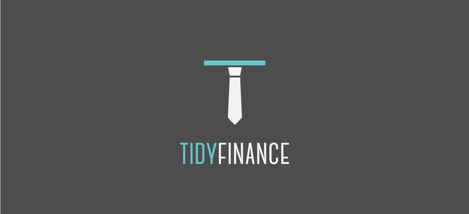Banking logo using a minimal suit and tie theme
