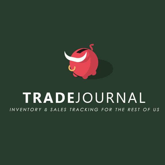 Trade journal logo made up of a piggy bank with bull horns