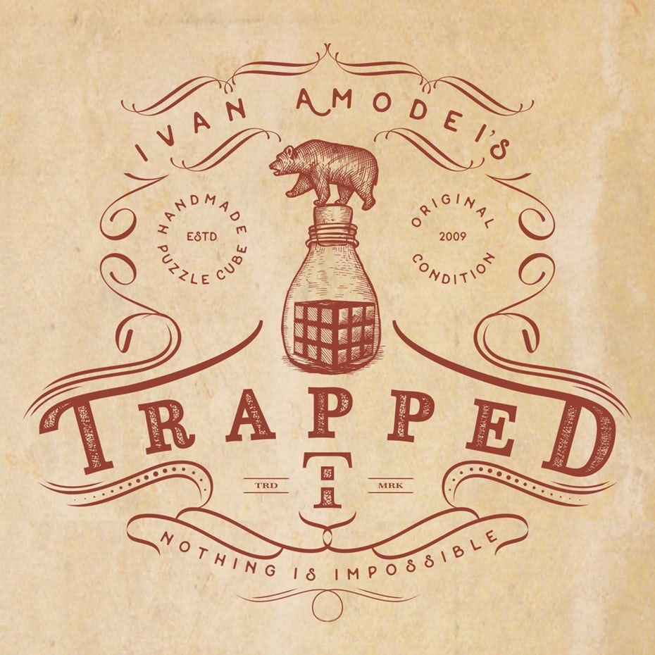 Trapped cleaner spray logo
