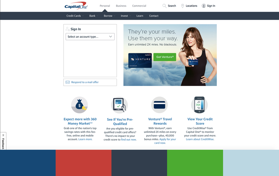 Color Hex Codes 184a73 C3423d 343f4d 51aa3a Bdd7e2 Via CapitalOne