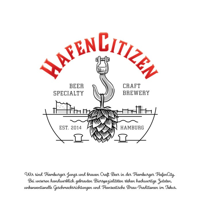 Das ideale Bier-Etikett für Brauerei HafenCitizen