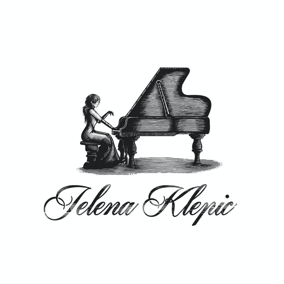 Piano teacher logo design