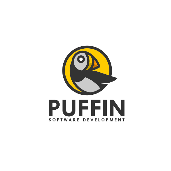Puffin tech logo design