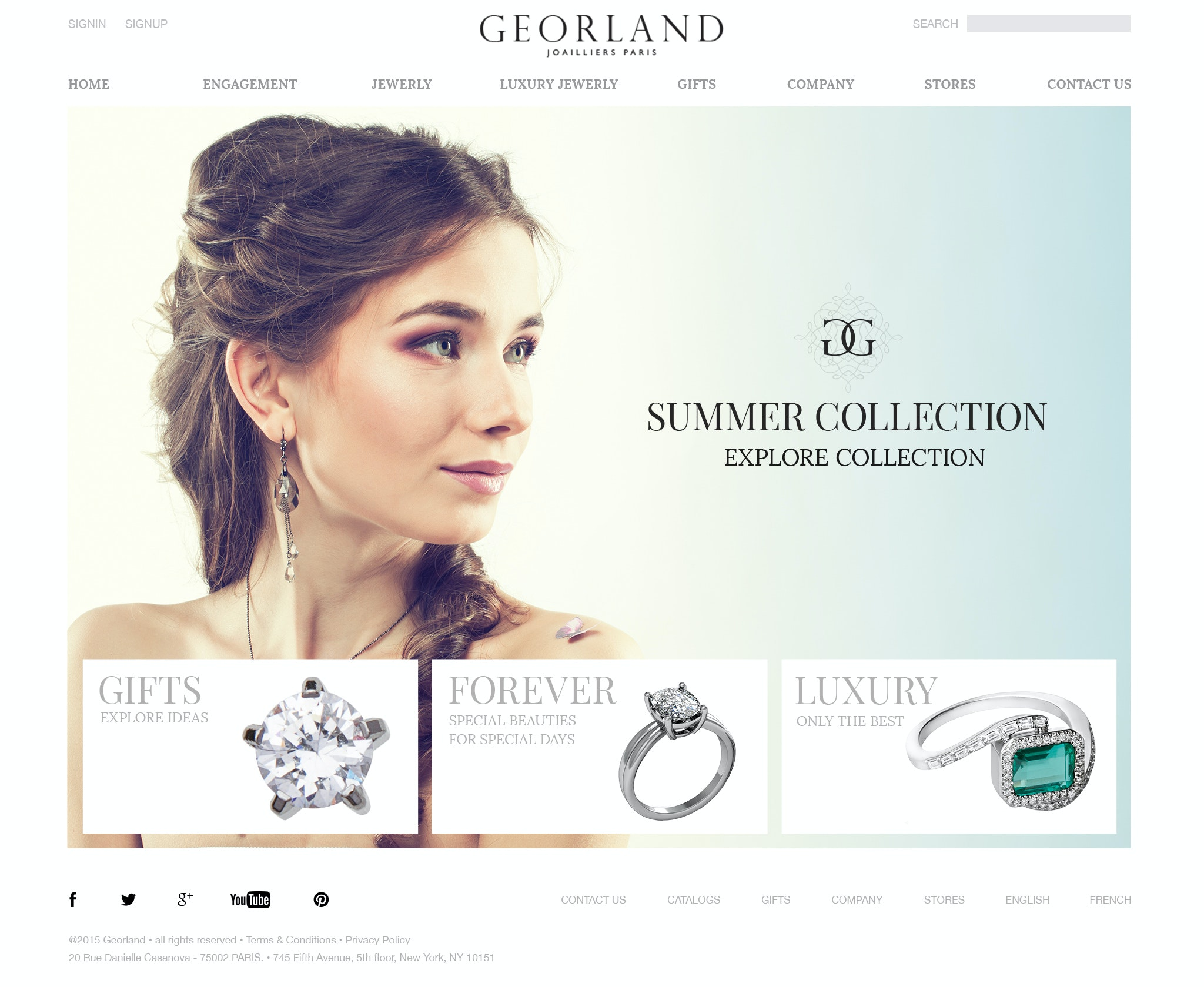 Jewelry designer website