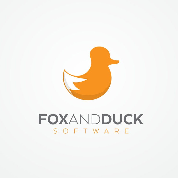 Fox and Duck tech startup logo design