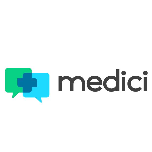 medici tech startup logo design