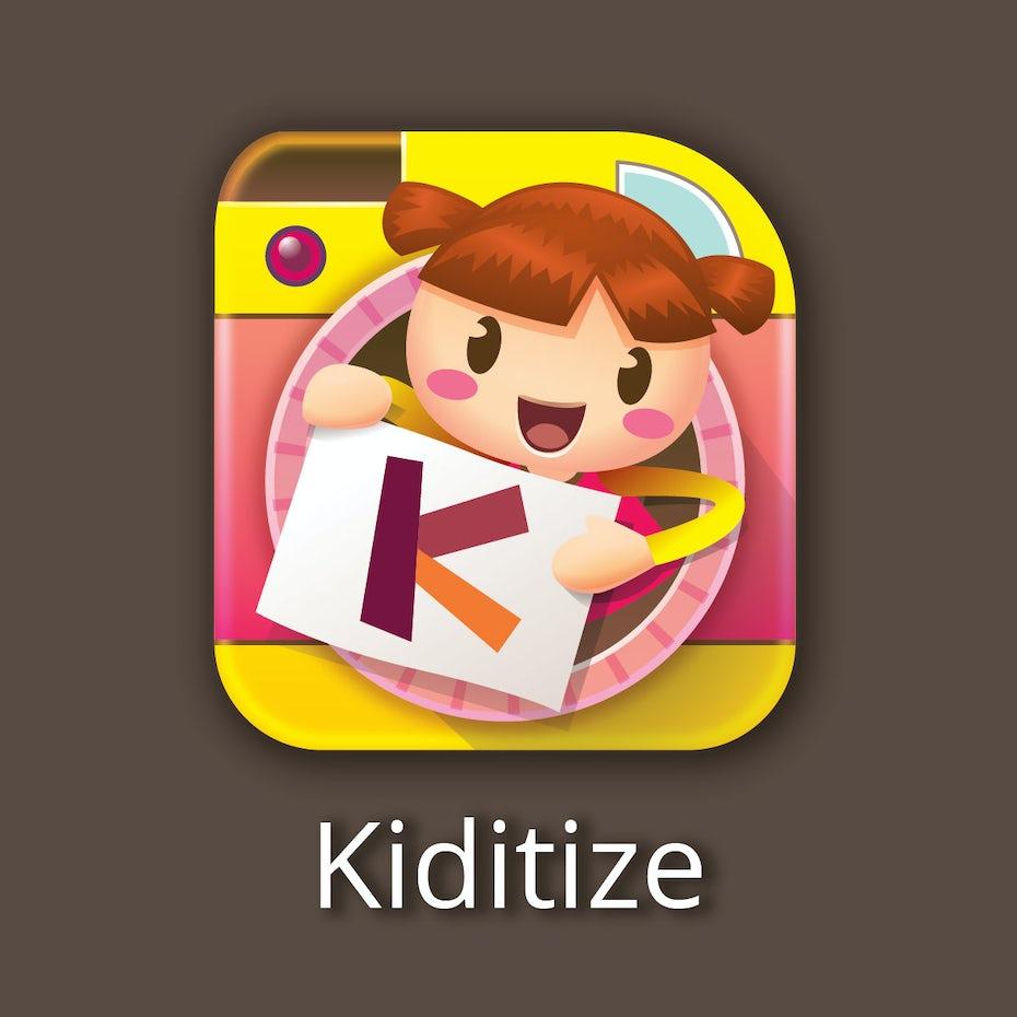 Kiditize tech startup logo design