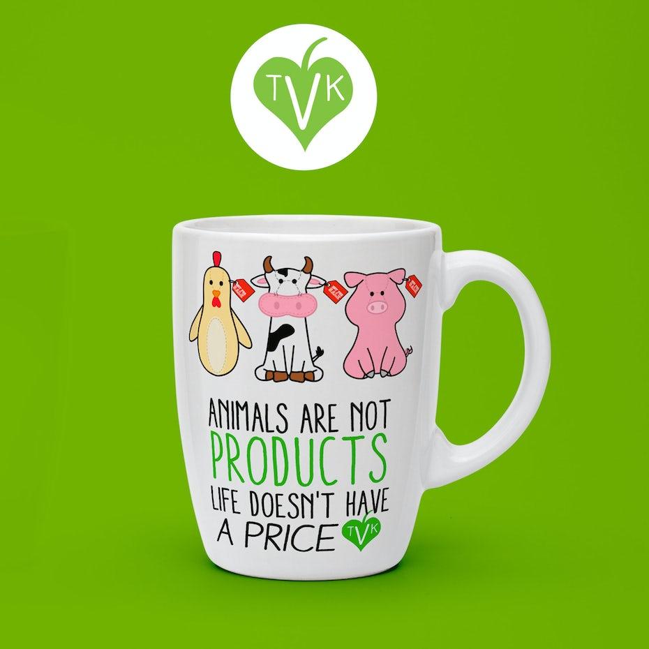 Vegan mug design
