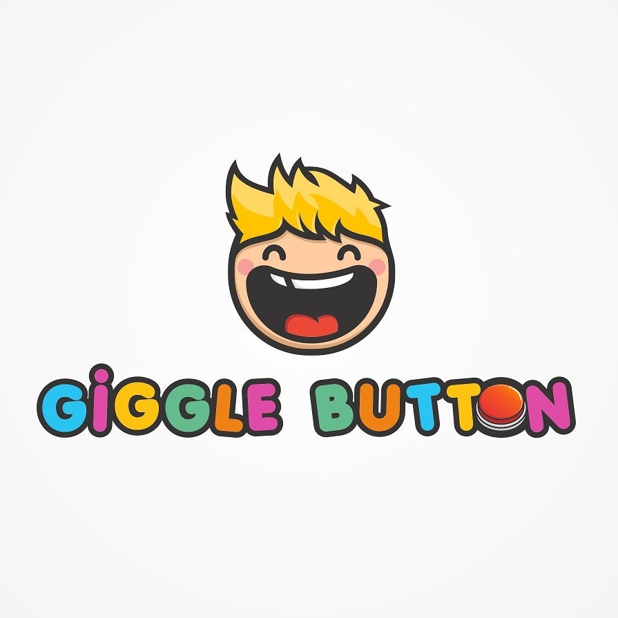 Giggle Button tech startup logo design