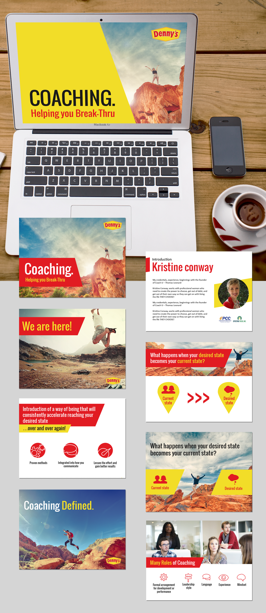 POWERPOINT PRESENTATION WITH YELLOW AND RED ACCENT COLORS
