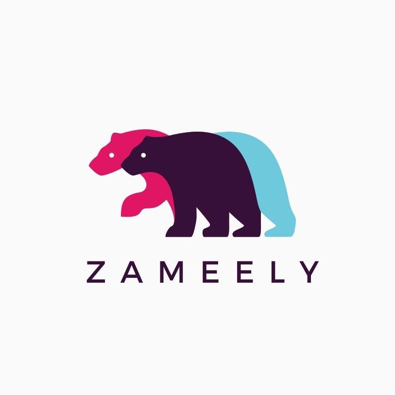 Zameely startup logo design