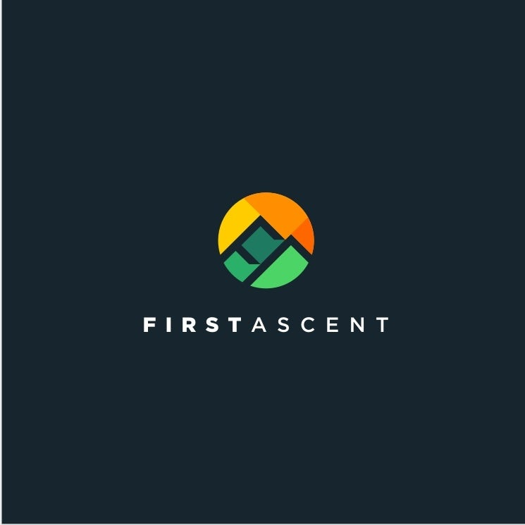 First Ascent tech startup logo design