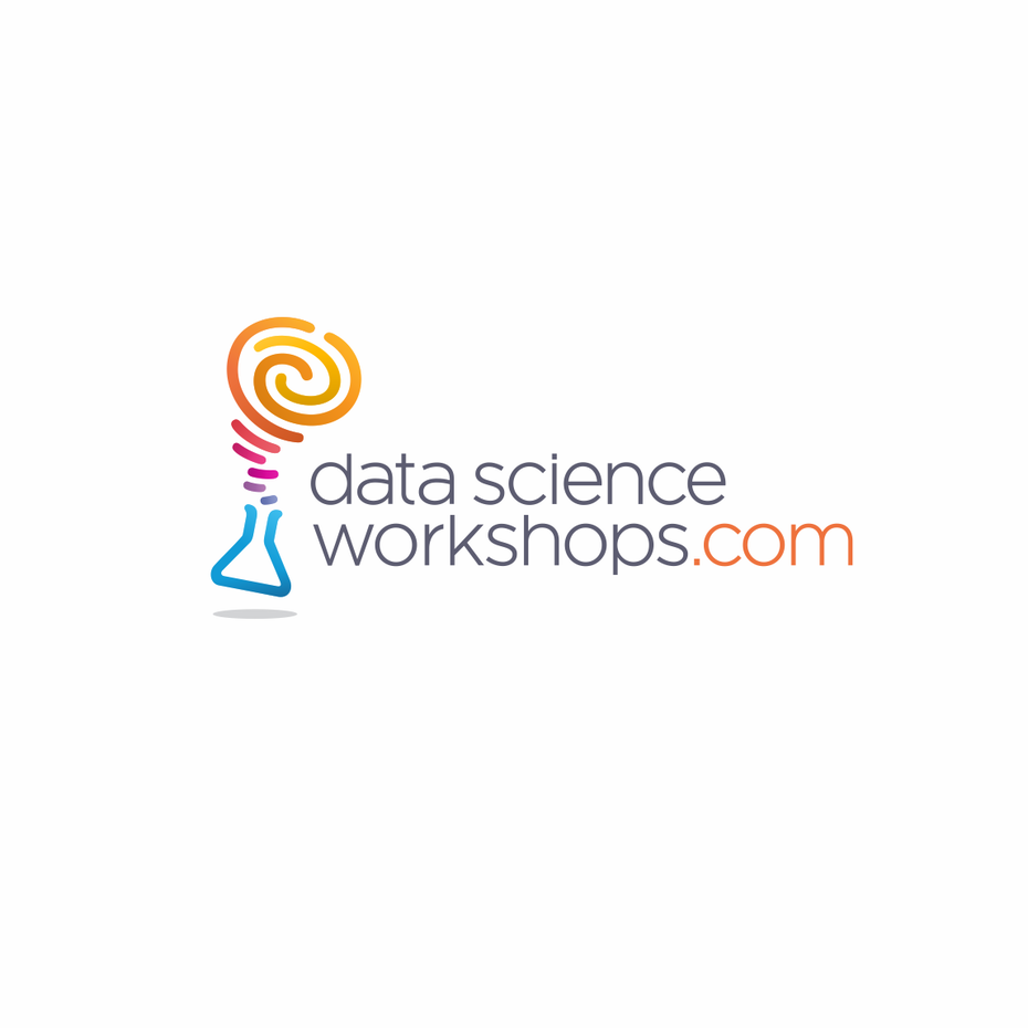 Data science tech startup logo design