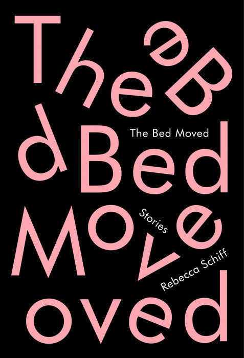 example for breaking design rules: The Bed Moved by Rebecca Schiff, Designed by Janet Hansen