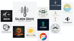 48 fish logos that go over swimmingly