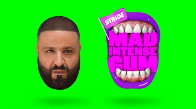 DJ Khaled appears in an ad for Stride Gum.